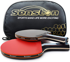 Senston Ping Pong Paddles Set Includes 2 High Performance Table Tennis Racket an