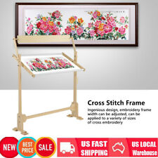 Large Wooden Embroidery Cross Stitch Frame Needlework Stand Adjustable Tool