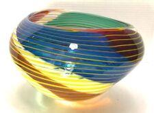 VTG Multicolor Large Art Glass Handcrafted Vase
