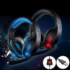 2pcs USB Stereo 7.1 Surround Gaming Headset Headphone With Mic for PC Laptop