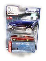 AUTO WORLD 1:64 1970 BLUE CHEVROLET IMPALA SS  LOWRIDER DIECAST CAR CP7666 chase