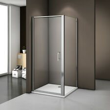 Frame Frameless Pivot Shower Enclosure Glass Door Screen Cubicle Free Waste Tray