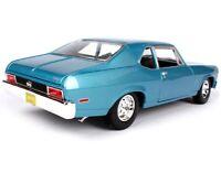 1970 CHEVROLET NOVA SS COUPE BLUE 1:18 DIECAST MODEL CAR BY MAISTO 31132