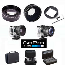 GOPRO HERO6 HD WIDE ANGLE LENS + 2X TELEPHOTO ZOOM LENS + GOPRO CASE ABSSC-001