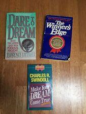 Dare to Dream, Make your Dream Come True and The Winner's Edge (lot of 3 books)
