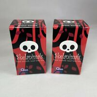 """Qee Skelanimals Artist Series 2.5"""" Key Chain Ring Collection Blind Box Set Of x2"""