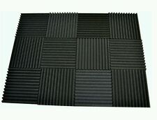 12 pack Acoustic Foam Tiles 1 x 12 x 12 (charcoal) * Free Shipping
