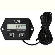 Digital LCD Display Tachometer RPM Measure Device Car Motorcycle Speed Timer Top