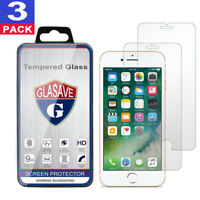 3-Pack For iPhone 7 / iPhone 7 Plus Tempered GLASS Screen Protector Bubble Free