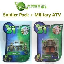 Movie Planet 51 Figure Soldier Pack  + Military ATV