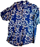 Festival Cali Large RUM REGGAE BATIK HAWAIIAN SHIRT 100% Cotton Rad VTG design