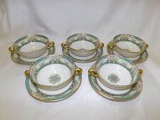 Vintage Lenox MONTICELLO 5 Cream Soup Bowl Cup & Liner Saucer Sets