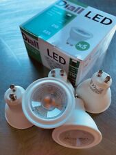 10 X Diall LED GU10 3W Non Dimmable Warm White Downlight Light Bulbs