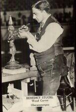 Occupation Wood Carver Benedict Stuckl Oberammergau c1915 CRISP RPPC