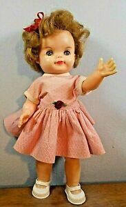 "Vntg'60s Effanbee ""Fluffy"" Doll Vnyl.10 1/2""Orig.Outfit.Sleep eyes Free Shipping"