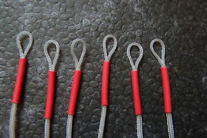 6 Fly Fishing Braided Leader Loops Connectors.