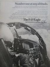 3/1977 PUB MCDONNELL DOUGLAS F-15 EAGLE FIGHTER US AIR FORCE ORIGINAL AD