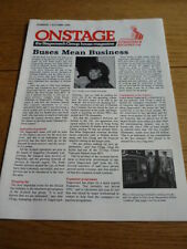 ON STAGE - STAGECOACH BUS GROUP HOUSE MAGZINE 1st ISSUE AUTUMN 1989  jm