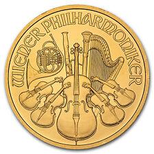 Random Year 1 oz Gold Austrian Philharmonic Coin .9999 Fine