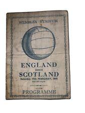 More details for england v scotland 19/2/1944 pirate programme