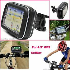 "Bicycle Mount Motorcycle Case for 3.5"" 4.3"" Garmin Nuvi, TomTom GPS Waterproof"