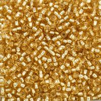 Toho Seed Beads Size 8/0 PermaFinish Silver Lined Light Topaz 10g (Q89/1)