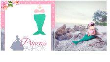 Newborn  Girls Crochet Knitted Baby mermaid Outfits Photography Photo