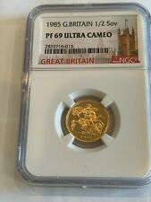 1985 Half Sovereign Proof gold coin NGC PF69