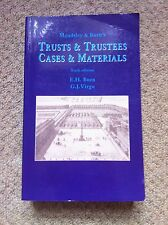 Maudsley Burns TRUSTS & TRUSTEES CASES MATERIALS 2004 6th Edition Law Tax Income