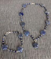 Sodalite Necklace and Bracelet Set