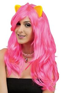 Cat Fantasy Pink Wig with Ears