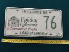 Illinois 1999 ST. CHARLES HOLIDAY HOMECOMING GRAPHIC License Plate # 82