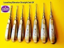 Dental Instruments,Elevator Picks Luxating Set Of 7 Straight  From 2.0mm-5 .0mm