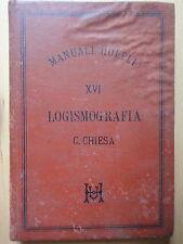 1888-LOGISMOGRAFIA-Ing.CELESTINO CHIESA-MANUALE HOEPLI