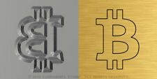 Bitcoin #C03 - STEEL Metal HAND STAMP - Symbol for Marking Jewelry Gold Silver