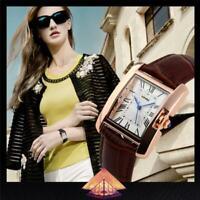 Superbe Montre de Luxe Quartz Femme Classique Etanche Cuir PROMO