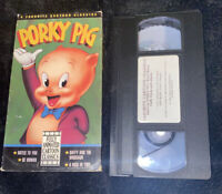 Porky Pig (VHS 1992) 4 Favorite Cartoon Classics Notes To You, Be Human, Daffy &