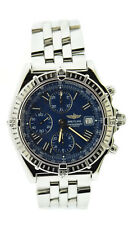 Breitling Windrider Crosswind Blue Dial Stainless Steel Watch A13055