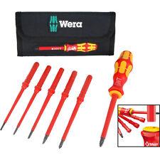 NEW Wera Kompakt Interchangeable Blade VDE Screwdiver Set 7 Piece Each