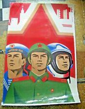 Soviet Propaganda Poster. Laminated. #2 - Sell for Charity
