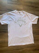 New listing Callaway Golf T Shirt White Men's Size XL