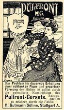 Pulfront-Corsets H.Gutmann Söhne Stuttgart Klassische Annonce 1905