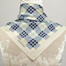 """Handkerchief NeckScarf Blue Black Green Nova check Cotton19"""""""