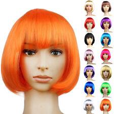 ❤ Caldo ❤ da donna da signora corto capelli completo Parrucche cosplay