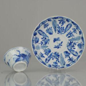 Rare Antique Kangxi Cobalt Blue and White Overglaze Blue Duck scene