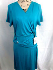 Miraclesuit Everyday Shapewear Dress Teal Blue Size 12