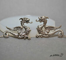 DRAGON x2 SILICONE MOLD LEFT RIGHT POLYMER CLAY FIMO RESIN MOULD SUGARCRAFT