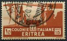 Eritrea 1933 SG#201, 10c Brown Used #D82245