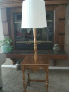 Vintage Ethan Allen Maple Wood Table/Tray Floor Lamp Local Pickup Only
