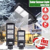 60/90W 120/180LED Solar Powered LED Street Light PIR Motion Sensor Wall Lamp
